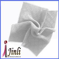 2014 Newest knitted 100 cotton white handkerchief