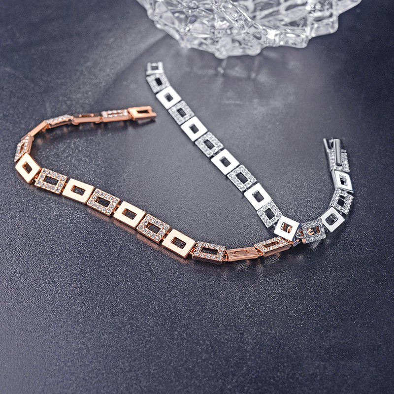 2017 Fashion Gold Plated Chain Bracelet Austrian Crystal Chain Bracelet For Women