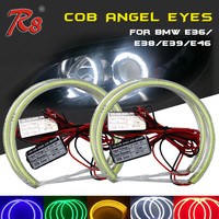 Auto Guide Light Ring For BMW E36 E38 E39 E46 Projector COB Headlight 131mm LED Angel Eyes Ring Halo Lighting