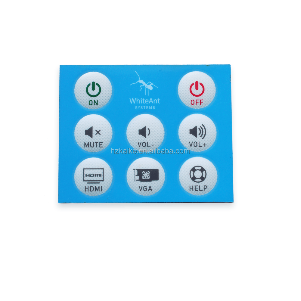 Pet/pc Graphic Overlay For Membrane Switch, Pet/pc Graphic Overlay ...