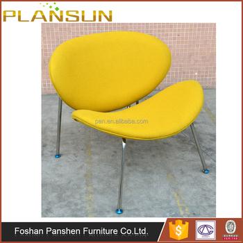 Modern Replica Furniture Pierre Paulin Iconic Fauteuil Design Orange