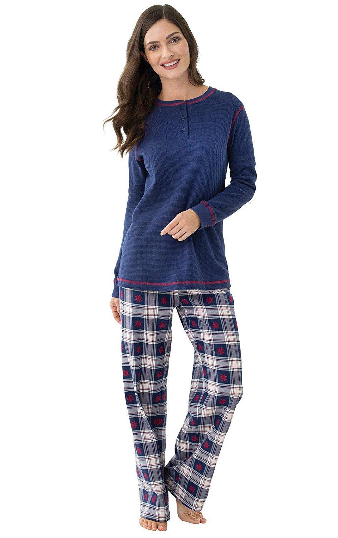 Get Quotations · PajamaGram Womens Flannel Pajama Set - Premium Weight 5d3df6590