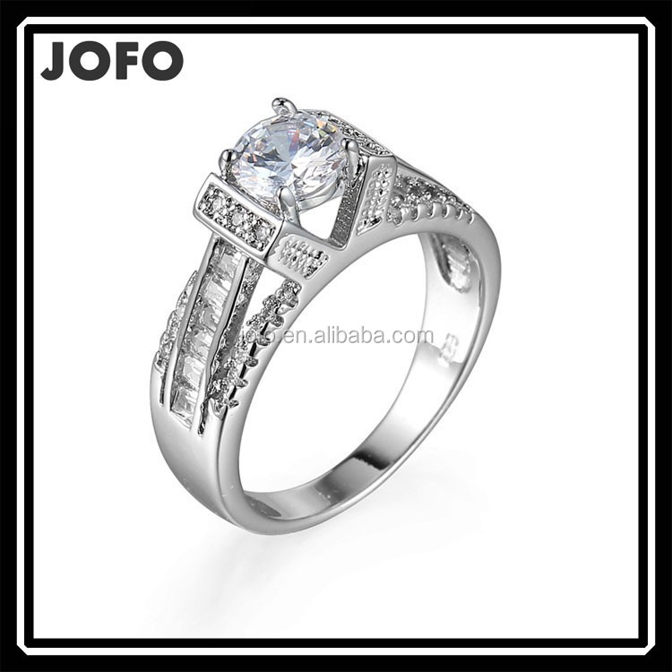 Nice Party Gift Element zircon ring dubai silver wedding ring