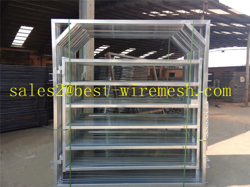 galvanized sheet metal farm gates for sale( cattle horse corral fence gate)