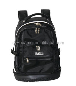 "20 "" Tool backpack hard bottom 35 pocket backpack"