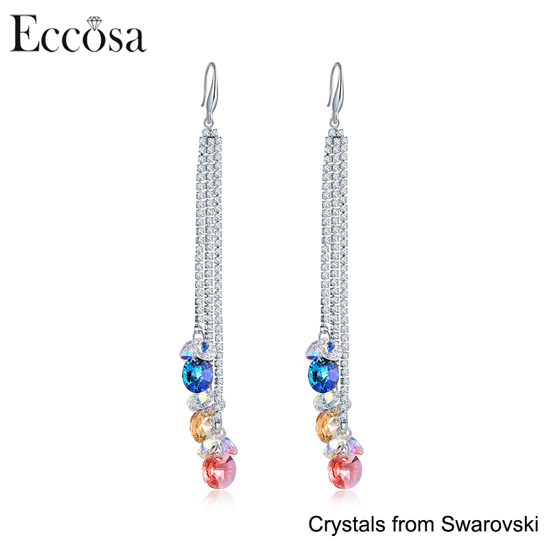 Best Christmas Gift,High Quality Fancy Design Gold Earring Hooks Jewelry Made With Crystals From Swarovski