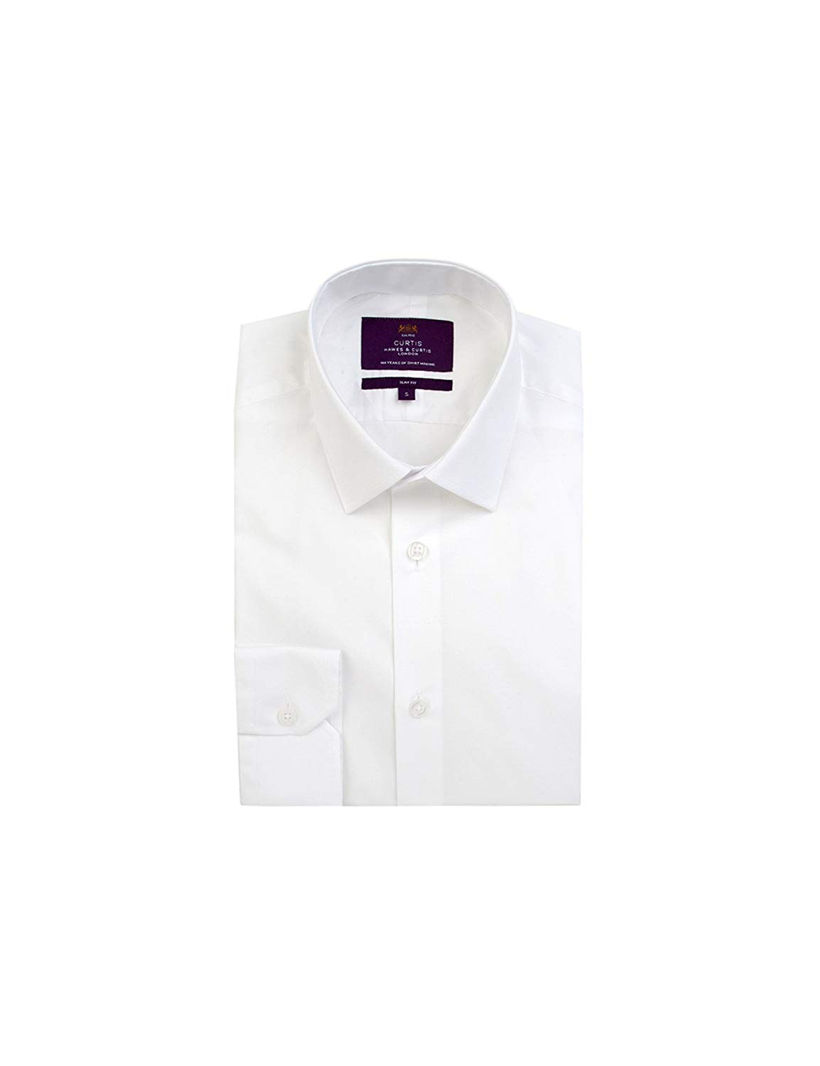 2c7081a6a9c37 Get Quotations · HAWES   CURTIS Mens Curtis White Poplin Slim Fit Smart  Casual Shirt - Single Cuff