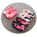 Kids Mini Melissa Shoes with Cat Mickey Cow Pattern 2016 Brand Baby Girls Sandals Jelly Shoes
