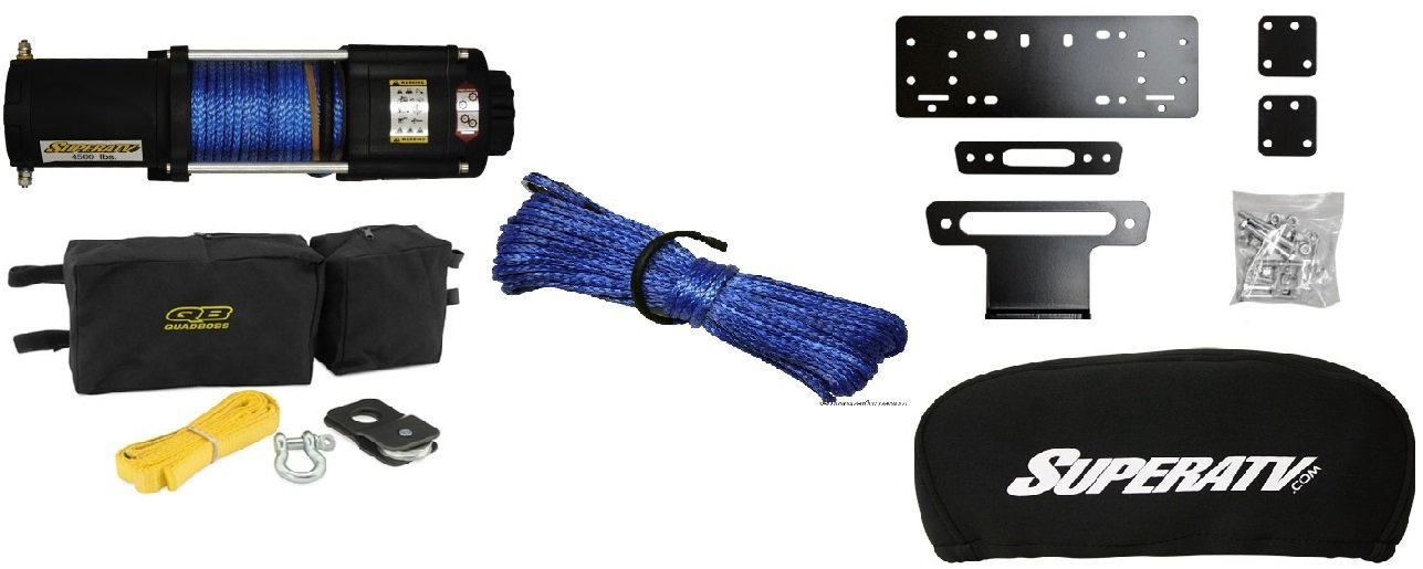 Honda Pioneer 500 2015+ Winch,Winch Mount,Winch Cover,Accessory Kit,Cable Upgrade and Spare Cable