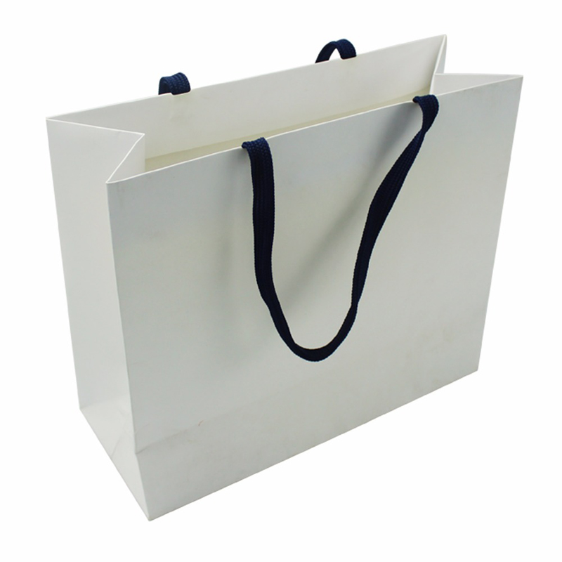 Custom Made Reusable Paper Shopping Bag with Handle