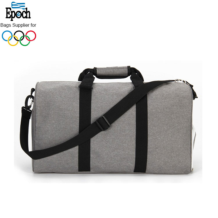 Epoch best selling grey unisex heavy duty polyester gym sports travel duffel bag