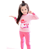 OEM Brand wholesale lovely printed pattern 100% cotton child thermal clothes