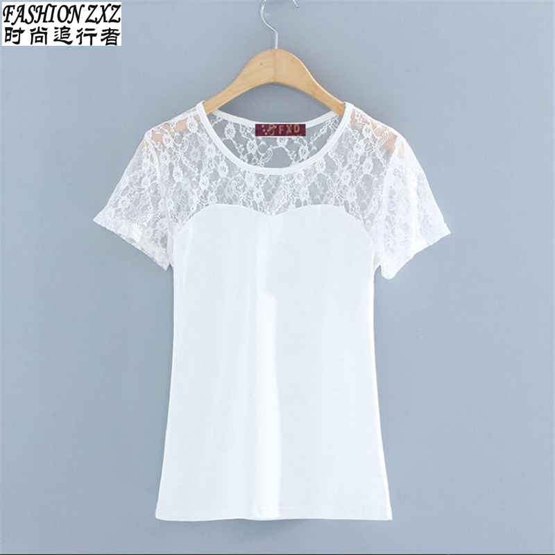 Compra encaje camisetas online al por mayor de China