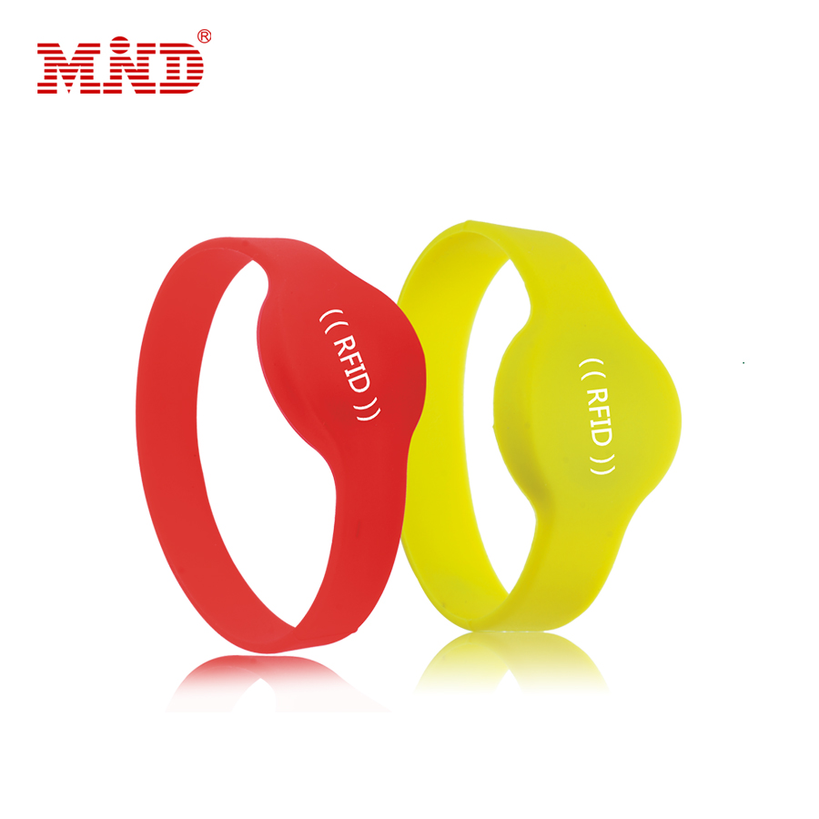 MDW69 1k rfid silicone wristband for swimming pool and waterpark