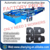 Liquid PVC rubber car mat production line baking/cooling automatically leading manufactory
