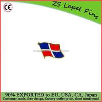 Personalized design Dominican Republic Flag Pin