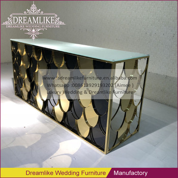 Rectangle Shape Bar Furniture Gold