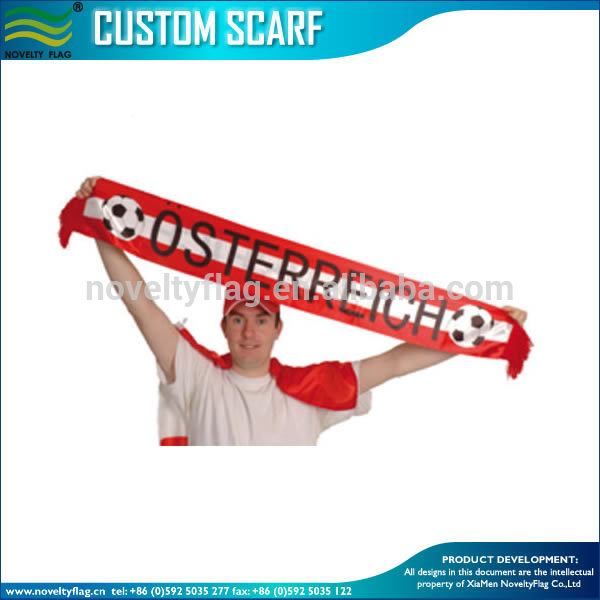 Austria football fan scarf Austria knitting scarf for UEFA EURO 2016