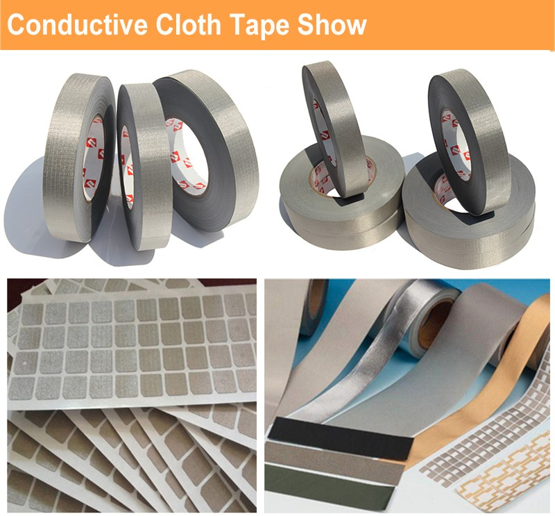 tesa 60256 grey double-sided electrically conductive self adhesive tape with conductive woven backing