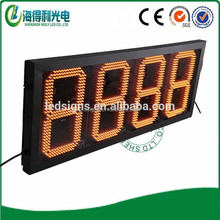 Hi-tech quality factory amber Customized LED Petrol price display