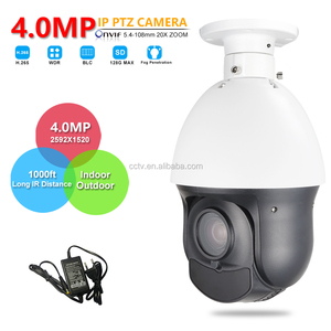"CCTV Outdoor 4"" Mini Size H.264 H.265 4MP Ceiling Mount PTZ IP Camera 4 Megapixels High Speed Pan Tilt 20X Optical Zoom SD Slot"