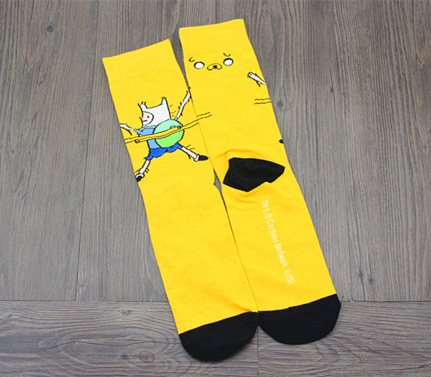 Cute Anime Cartoon Adventure Socks Yellow Street Cosplay Cotton Comics Women Men Sock Party Novelty Funny Autumn Halloween 2018 Underwear & Sleepwears