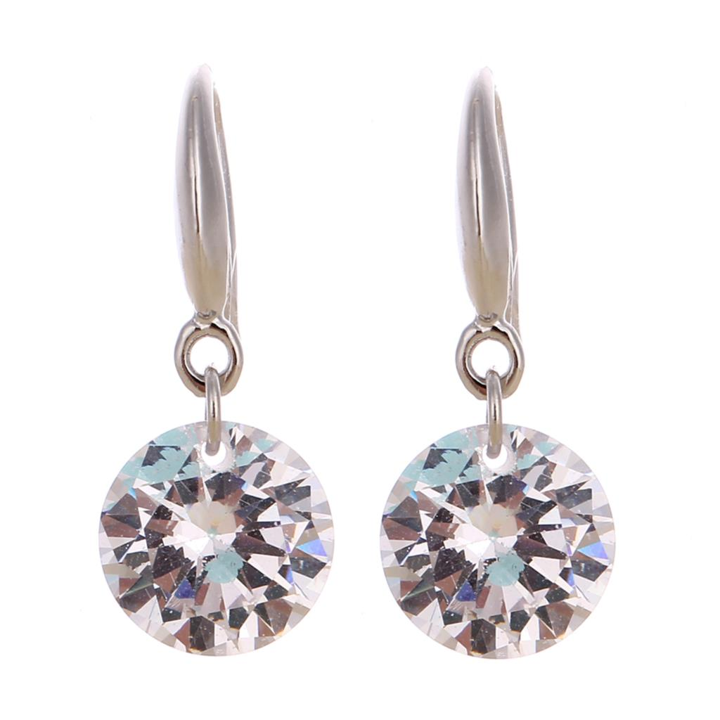 Classic Women Jewelry Drop Earrings Big Crystal Dangle ...