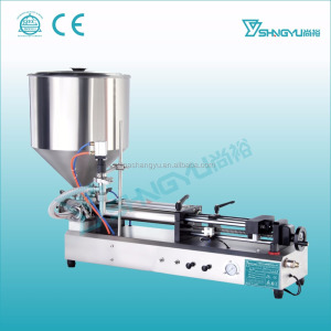 Newest products pneumatic stainless steel 316L liquid and cream funnel filling machine