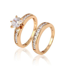 15603-Xuping Jewelry Fashion Women Diamond Wedding Ring with 18K Gold Plated