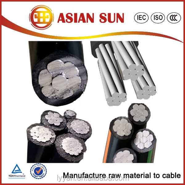 Overhead service Aerial Bundled Cable abc cable Duplex Pekingese