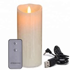 wholesale pillar candle restaurant performance series electric flameless LED rechargeable candles