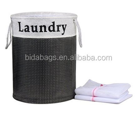 QA/_ LC/_ Cartoon Pop Up Folable Laundry Basket Mesh Hamper Clothes Bag Storage