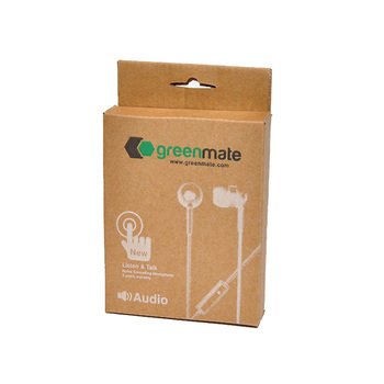 Disposable Customized Printing Kraft Paper Earphone Packaging Box