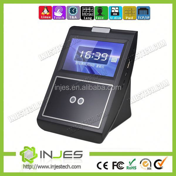 IJENS 4.3 inches Touch Screen High Resolution Infrared Camera Facial and Fingerprint data time attendance with Access Control