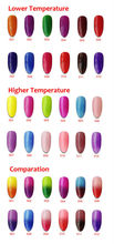 12pcs Color 1000 temperature change uv gel nail polish thermo color change soak of gel nail