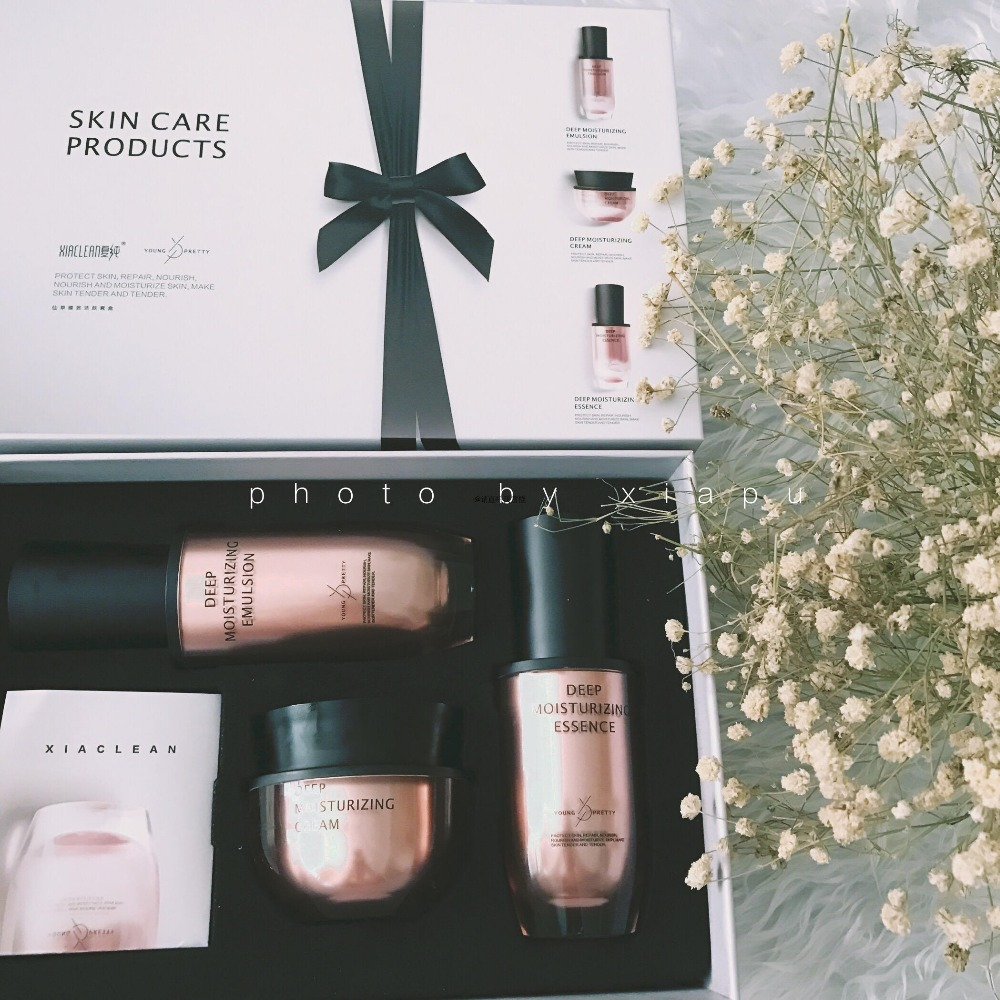 Dendrobium officinale skin series Summer pure skin care kit includes essence, lotion, face cream,