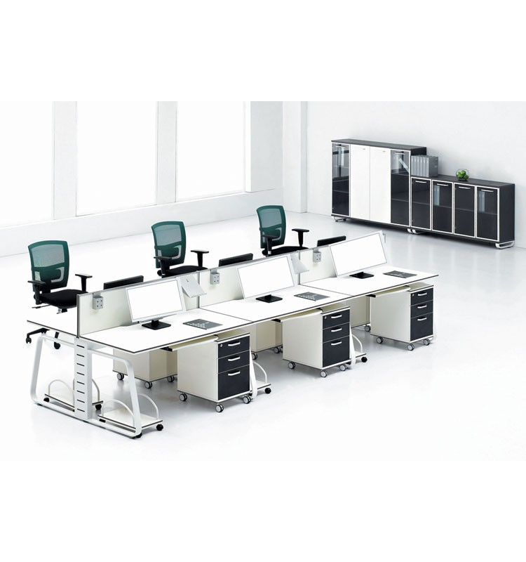 Import material designs pictures 4 person office workstation cubicle furniture