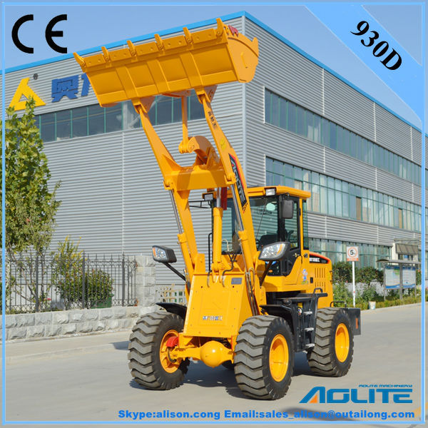 AOLITE 930D mini tractors with front end loader with grass fork