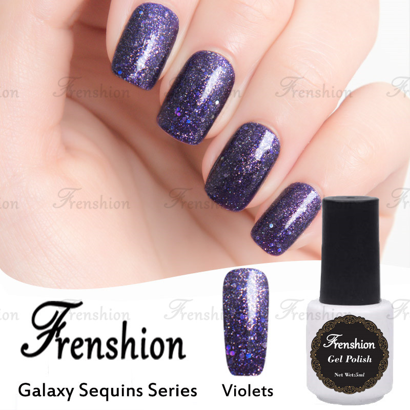 Frenshion Wholesale Fashion 3d Glitter Sequin Galaxy Sequins Violet ...