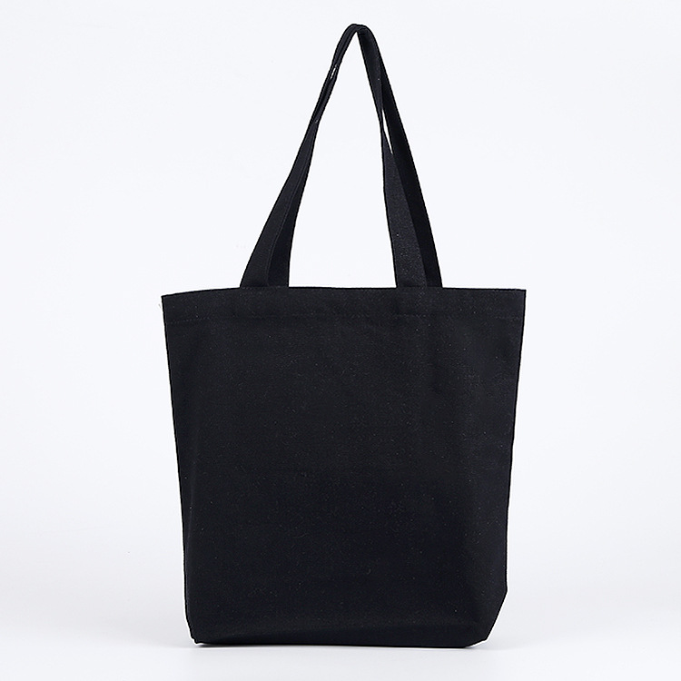 100% cotton blank three colors different sizes oem plain blank handbag custom logo canvas tote bag