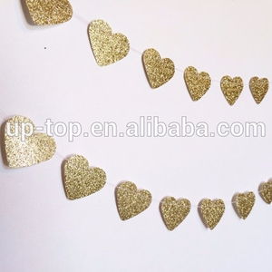 wholesale ! gold glitter Christmas wedding Decorations paper garland