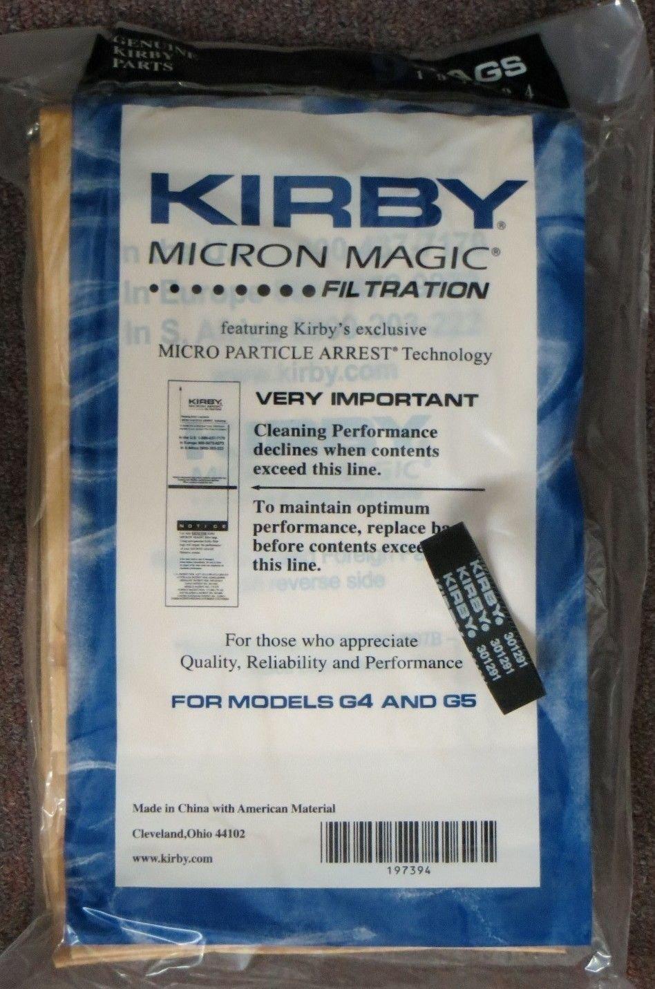 6 Belts 9 Sentria Micron Magic Kirby G3-6 UG Vacuum Bags BRAND NEW PRODUCT!!!!!