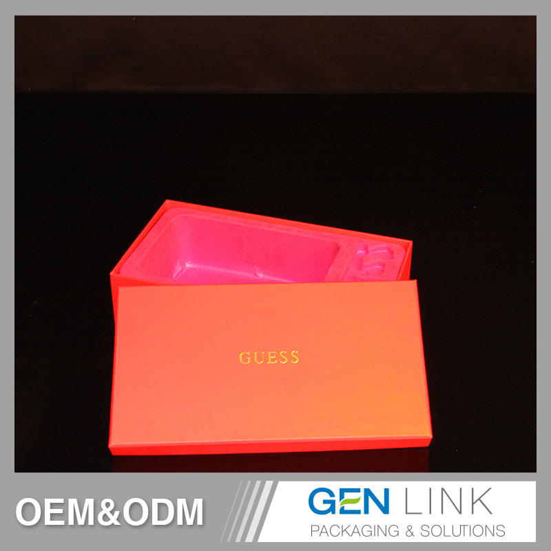OEM High Quality PVC insert with red velvet laminated packaging gift box for sale