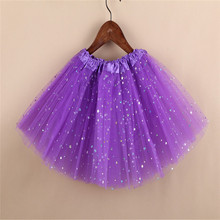 Principessa della ragazza Bling bling Stelle Paillettes gonna <span class=keywords><strong>bambini</strong></span> eseguire danza tutu gonne