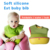 Custom waterproof rolling-up easily wipes clean soft textile silicone baby bib