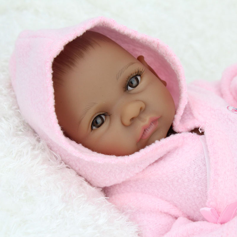 African American Baby Doll Black Girl Full Silicone Body