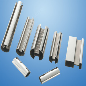 304 316 stainless steel slotted tube Round Square Rectangular welded pipe  for handrail
