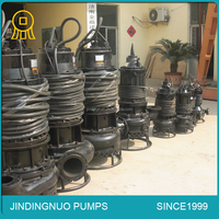 Submersible sand suction pump for sea dredger