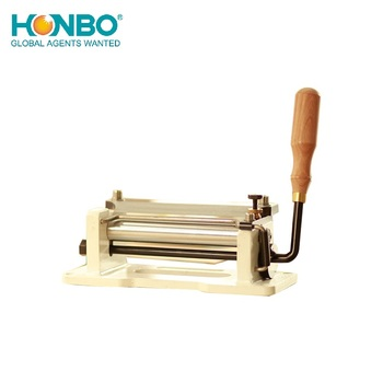 HB-800P peeling Hand Cranked Belt Skiving tanned leather rattan strap thinning machine