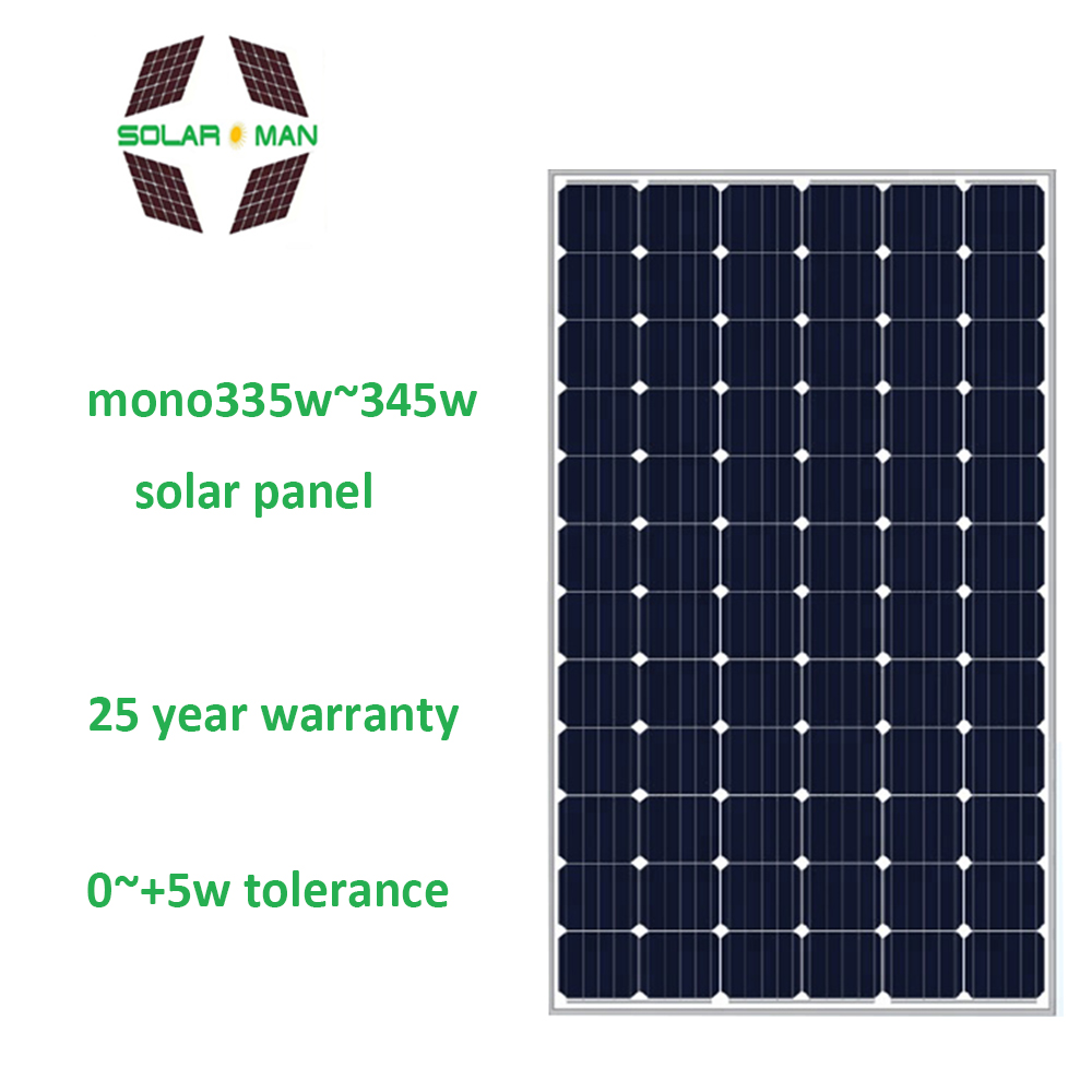 Best Price High Efficiency PV Modules solar panel with CE TUV certificate Mono solar panel 340w
